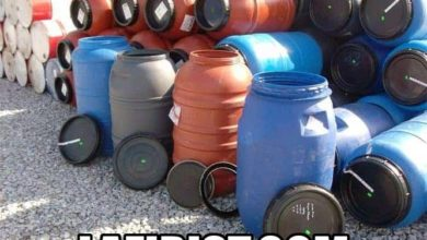 3b14e2757 بيع البراميل البلاستيكية المستعملة